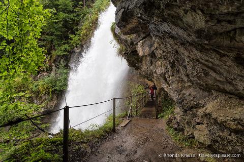 Hiking trail behind Giessbach Falls