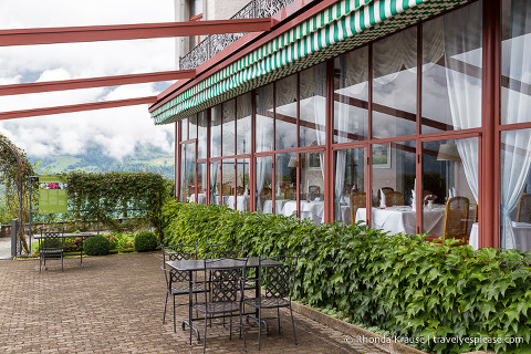 Patio at Grand Hotel Giessbach