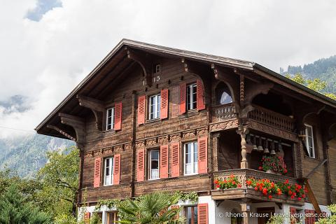 Wooden chalet in Brienz, Switzerland