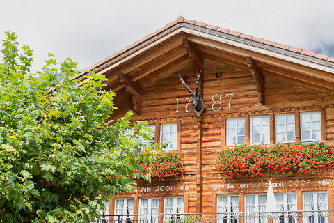 House with wood carving in Brienz