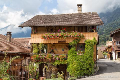 Wooden house in Brienz