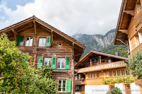 Traditional Swiss architecture in Brienz