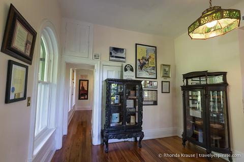Inside Ernest Hemingway's home in Key West, Florida