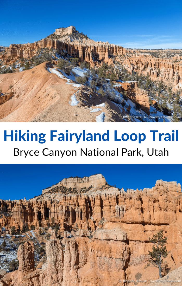 Hiking Fairyland Loop Trail- Bryce Canyon National Park, Utah