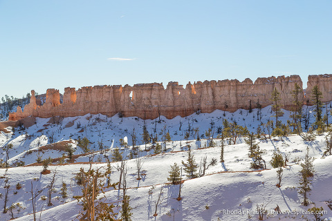Chinese Wall in Bryce Canyon National Park