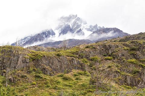 Mountain peak seen on the Grey Glacier hike