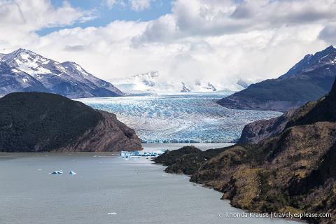Grey Glacier as seen from Mirador Lago Grey