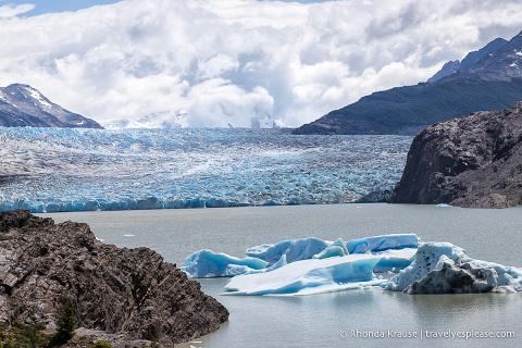 Grey Glacier at the end of the Grey Glacier day hike