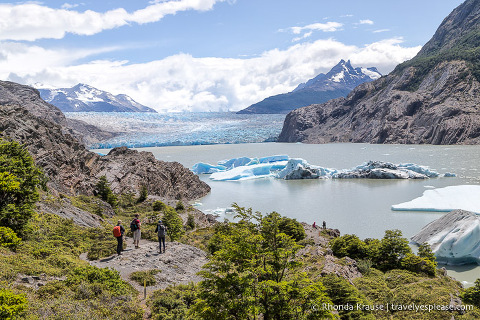 Viewpoint at the end of the Grey Glacier hike