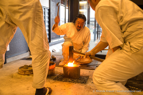 Things to do in Japan- Participate in an arts and crafts workshop (artisans at work forging swords in Seki)