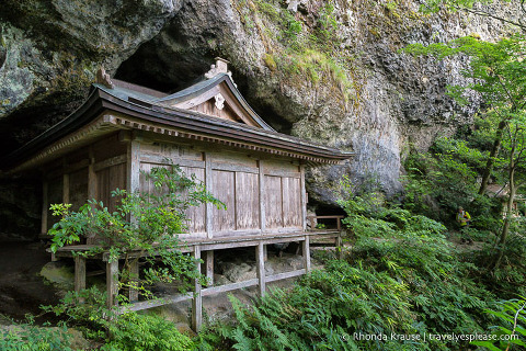 Things to do in Japan- Go hiking (wooden temple building on the Mt. Mitoku hiking trail)