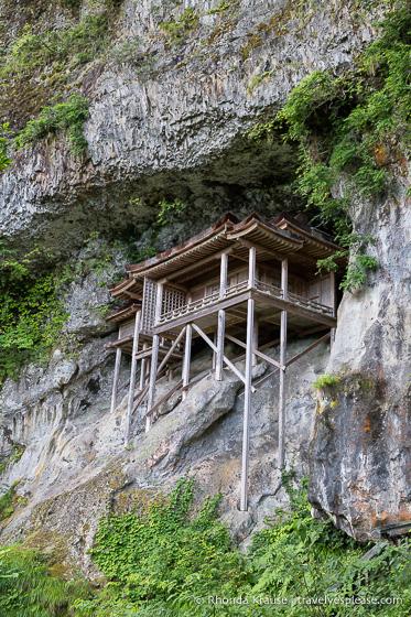 Nageiredo Hall built on the rocky slope of Mt. Mitoku