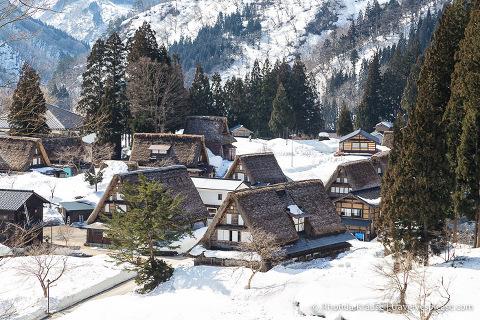Gassho-zukuri houses in Ainokura village, Gokayama