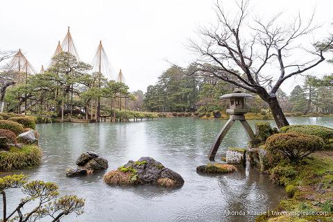 Rainy day at Kenrokuen Garden, Kanazawa
