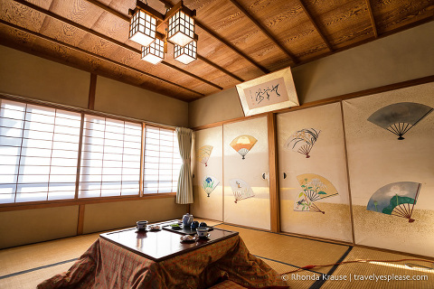Room at a temple accommodation in Koyasan
