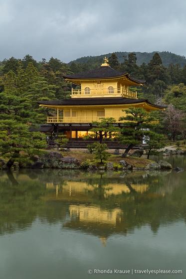 Kinkaku-ji Temple reflecting in the water