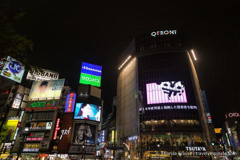 Electronic billboards at Shibuya Crossing, Tokyo