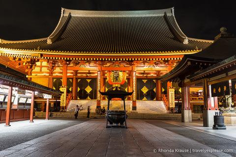 Senso-ji Temple at night, Tokyo