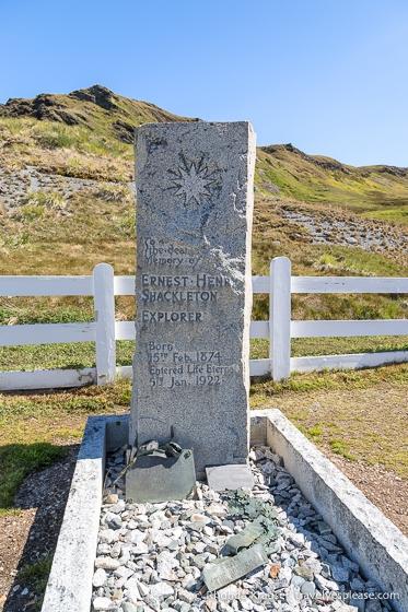 Ernest Shackleton's grave in the Grytviken Cemetery