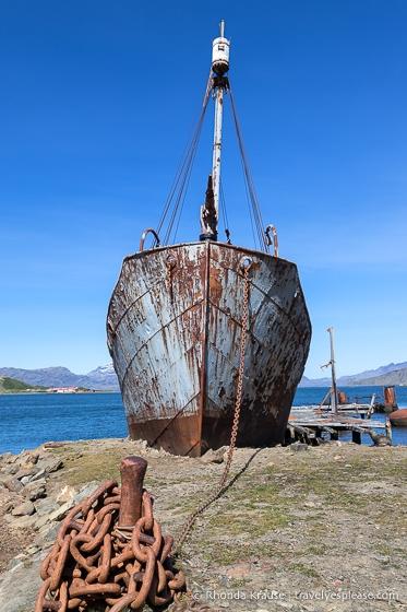 The Petrel whale-catcher boat in Grytviken
