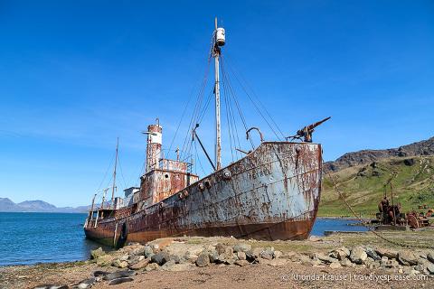 Petrel whale-catcher boat in Grytviken