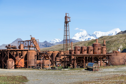 Machinery and equipment at the Grytviken whaling station