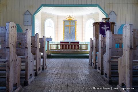 Interior of Grytviken Church