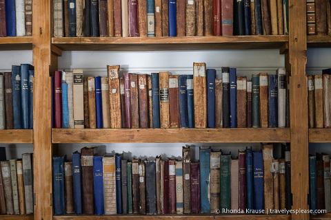 Books in the Grytviken Church library
