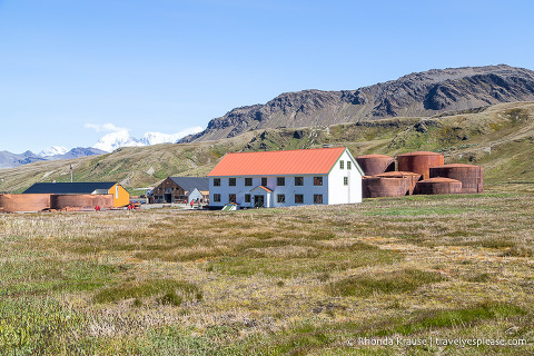 Building and tanks at Grytviken whaling station