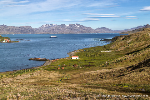 Grytviken, South Georgia- View of King Edward Cove and Cumberland East Bay