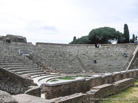 Theatre at Ostia Antica.