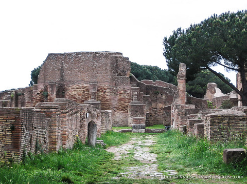 Ostia Antica ruins.