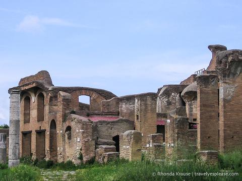 Ancient Ostia ruins.