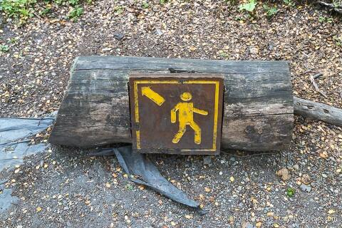 Hiking sign.