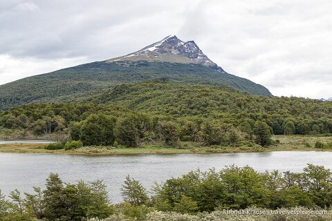 Mountain overlooking Lapataia River.