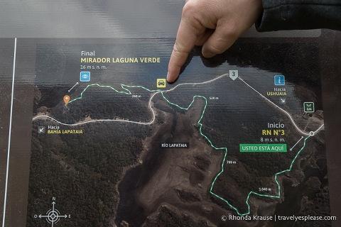 Map of the Island Hike.