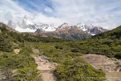Sendero al Fitz Roy- hiking trail leading towards Mount Fitz Roy.