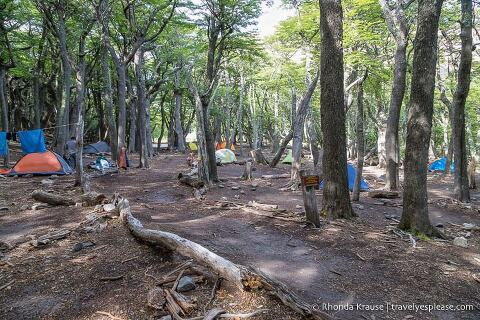 Tents at Poincenot campground.