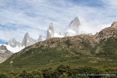 Steep hill in front of Mount Fitz Roy.