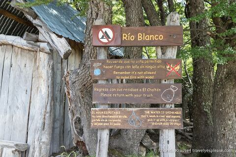 Sign at the Rio Blanco rest area.