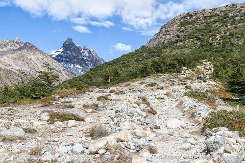 Rock covered, steep trail to Laguna de los Tres.