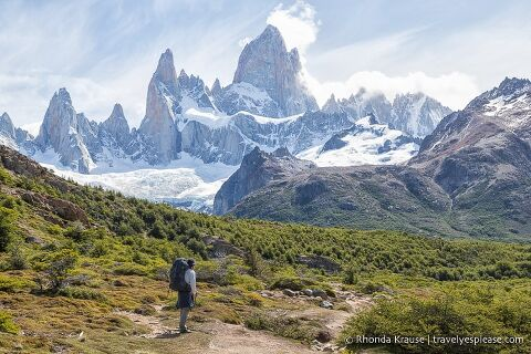 Hiking to Fitz Roy.