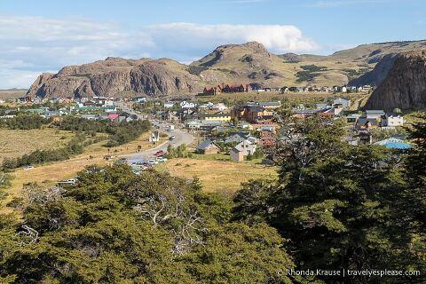 View of El Chalten, Argentina.