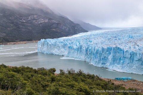 Perito Moreno Glacier and Brazo Rico (the Rico Arm) of Lago Argentino.