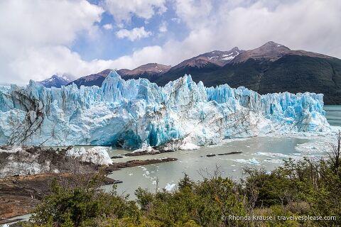 Jagged ice on the face of Perito Moreno Glacier.