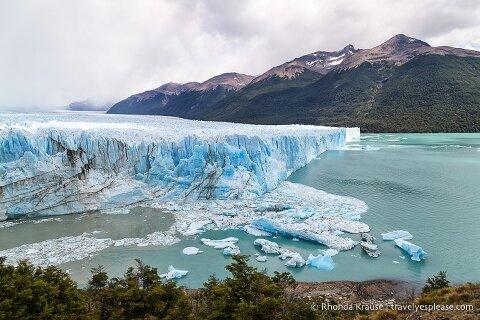 North and east sides of Perito Moreno Glacier's terminus.