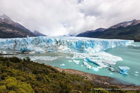 Perito Moreno Glacier and Lago Argentino.