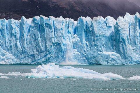 Perito Moreno Glacier calving.