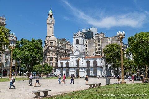 The Cabildo in Plaza de Mayo, Buenos Aires.