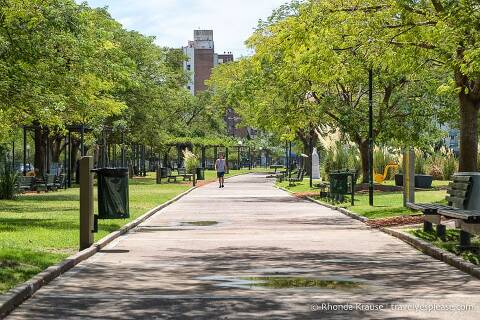 Park path in Buenos Aires.
